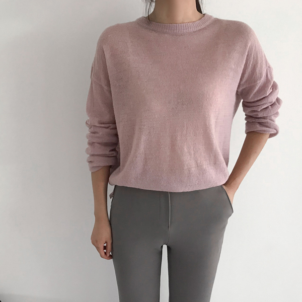 round seethrough-knit